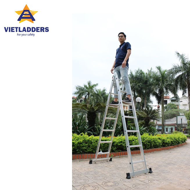 Two-joint Multi Purpose Ladder NVLG 307 stand